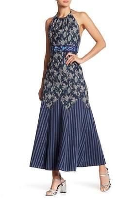 Anna Sui Wanderlust Jacquard Stripped Dress