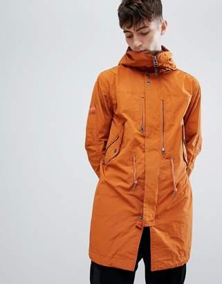 Pretty Green snorkel parka jacket in orange
