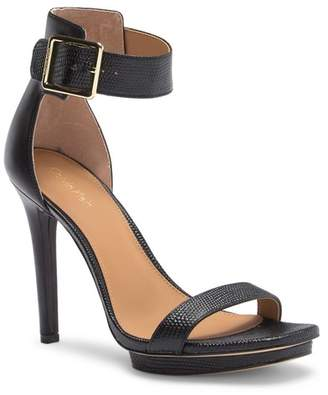 Calvin Klein Vable Lizard Embossed Leather Stiletto Heel Sandal