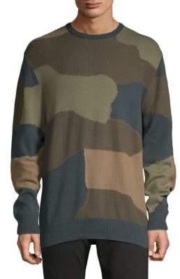 Barney Cools Camo Cotton Crewneck Sweater