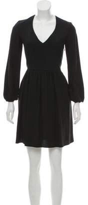 Chloé Long Sleeve Pleated Dress