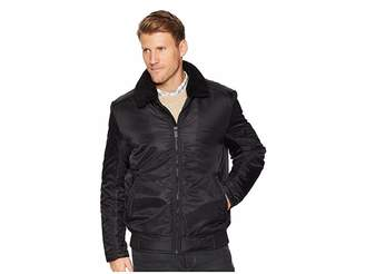 Kenneth Cole New York Zip Front Bomber with Faux Shearling Collar Men's Clothing