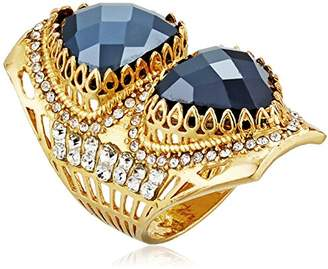 Azaara Hot Rocks Faceted Spinel with Swarovski Crystal Detail Ring
