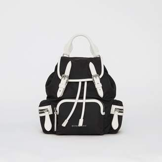 Burberry The Small Crossbody Rucksack in Nylon, Black