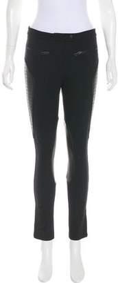 Rag & Bone Mid-Rise Leather-Trimmed Leggings
