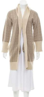 Max Mara Weekend Wool Blend Open Front Cardigan