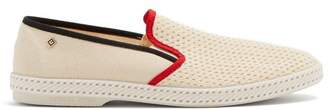 Rivieras Tour du Monde canvas loafers