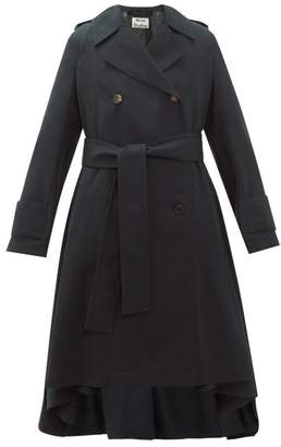 Acne Studios Olwen Double Breasted Trench Coat - Womens - Dark Green