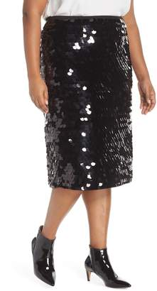 Halogen Paillette Pencil Skirt