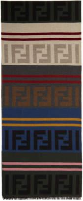 Fendi Multicolor Logo Scarf