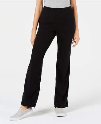 Karen Scott Microfleece Pull-On Knit Pants