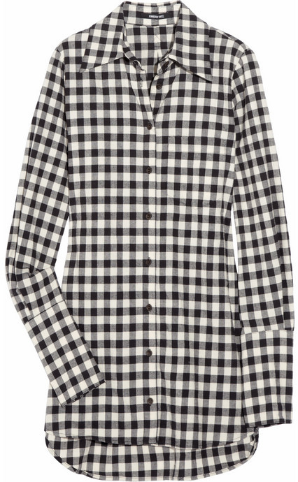 Kimberly Ovitz Checked cotton-blend shirt