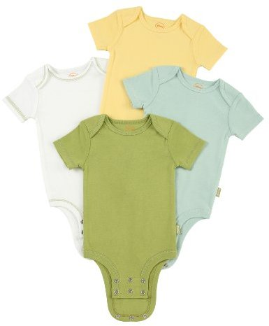 Disney Cuddly Bodysuit with Grow an Inch Snaps, Winnie the Pooh Nature Solids 4 Pack