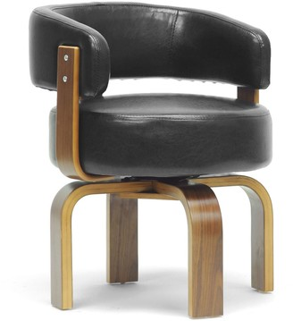 Baxton Studio Fortson Faux-Leather Accent Chair