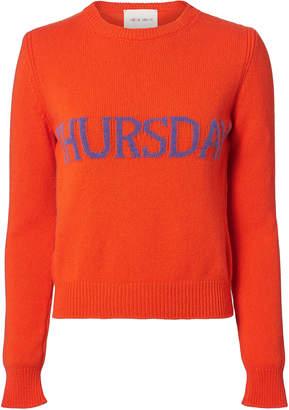 Alberta Ferretti Thursday Wool-Cashmere Crewneck Sweater