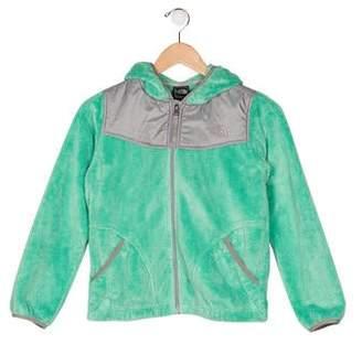 The North Face Girl's Fleece Zip-Up Sweatshirt
