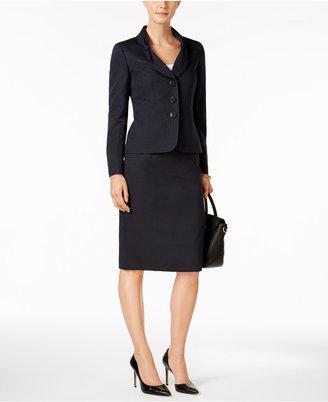 Le Suit Three-Button Bow Blazer & Jacquard Skirt $200 thestylecure.com