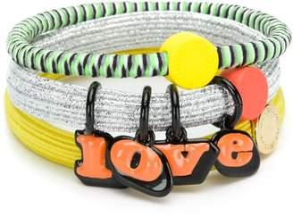 Marc Jacobs logo triple bracelets