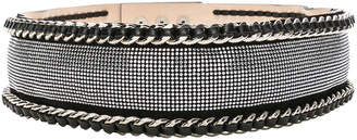 Balmain High Waist Chain Belt in Black & Silver | FWRD
