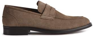 Reiss Alten - Suede Penny Loafer in Light Taupe
