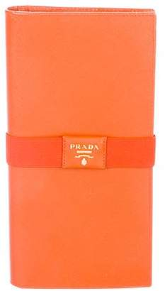 Prada Saffiano Travel Wallet