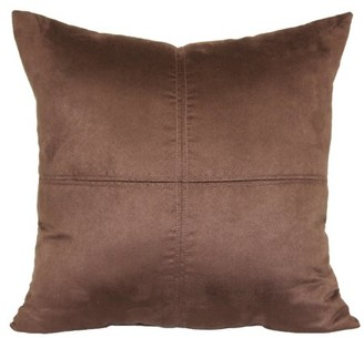 "Mainstays 4-Panel Suede Decorative Throw Pillow, 17"" x 17"", Cost Brown"
