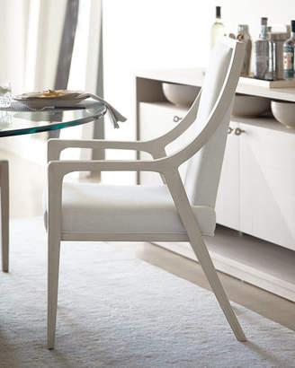 Bernhardt Axiom Cutout Dining Arm Chairs (Pair)