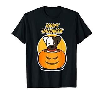 Dog in a Halloween Pumpkin Shirt for Dog Loving Men & Women T-Shirt