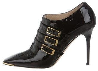 Jimmy Choo Jimmy Choo Patent Leather Square-Toe Booties