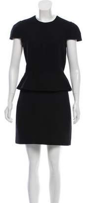 Alexander McQueen A-line Peplum Dress