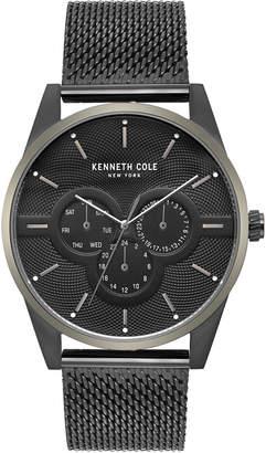 Kenneth Cole New York Men's Black Stainless Steel Mesh Bracelet Watch 42mm