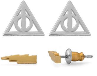WARNER BROS Warner Bros Brass Harry Potter 2 Pair Jewelry Set