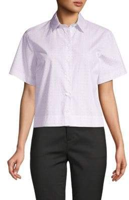 Dolce & Gabbana Short-Sleeve Cotton Button-Down Shirt