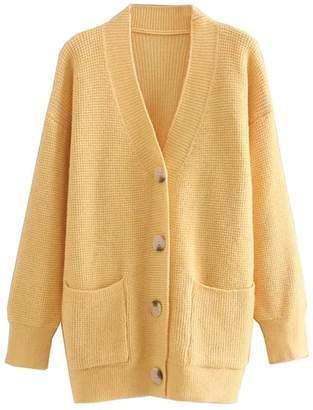 Goodnight Macaroon 'Journee' Waffle Knit Cardigan (6 Colors)