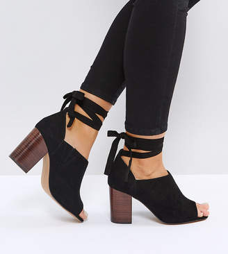 Asos Omen Wide Fit Tie Leg Heeled Shoes