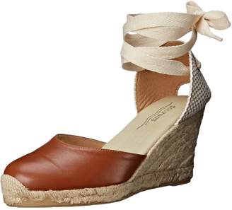 Soludos Women's Tall Wedge Leather Espadrille Wedge Sandal