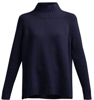 Allude Funnel Neck Cashmere Sweater - Womens - Navy