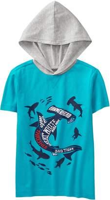 Crazy 8 Crazy8 Shark Hooded Tee