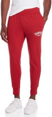 Champion Fire Roasted Red Fleece Arch Logo Joggers