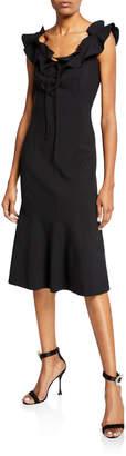 Carolina Herrera Bateau-Neck A-Line Dress