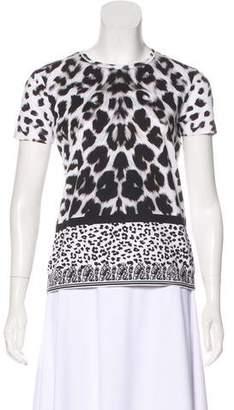 Versus Leopard Printed Crew Neck T-Shirt