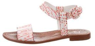 Alice + Olivia Embossed Leather Sandals