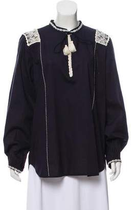 Figue Long Sleeve Embroidered Tunic