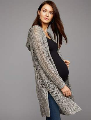 Splendid Crochet Detail Maternity Cardigan