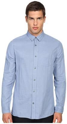 Vince Double Weave Square Hem Long Sleeve Melrose w/ Pocket Men's Clothing