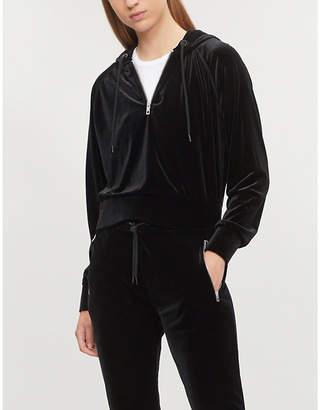 Rag & Bone Zipped velvet hoody