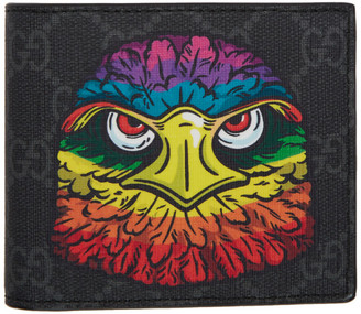 Gucci Black GG Supreme Eagle Wallet