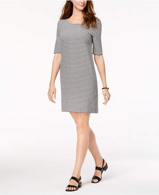 Style&Co. Style & Co Striped Cutout-Back Dress, Created for Macy's