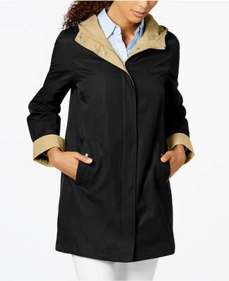 Jones New York Petite Colorblocked Raincoat