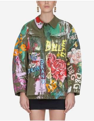 Dolce & Gabbana Printed Cotton Blazer